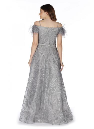 Pierre Cardin Payet Uzun Abiye Elbise Gri